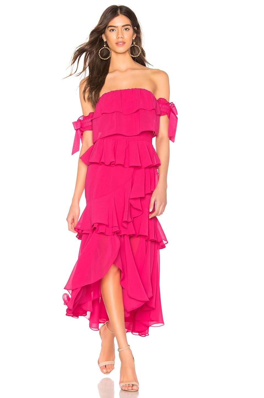 MISA Los Angeles X REVOLVE Isidora Dress in Hot Pink