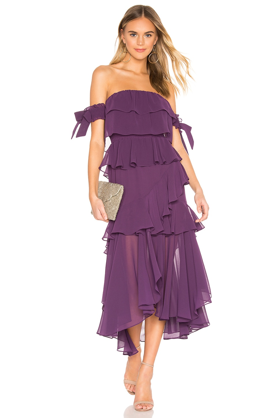 MISA Los Angeles Isidora Dress in Purple