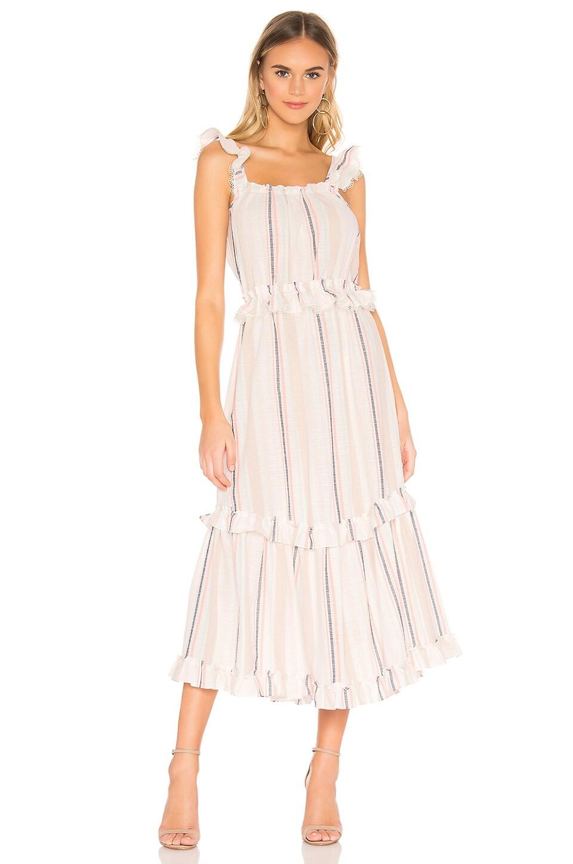 MISA Los Angeles Idonia Dress in Chambray Stripe