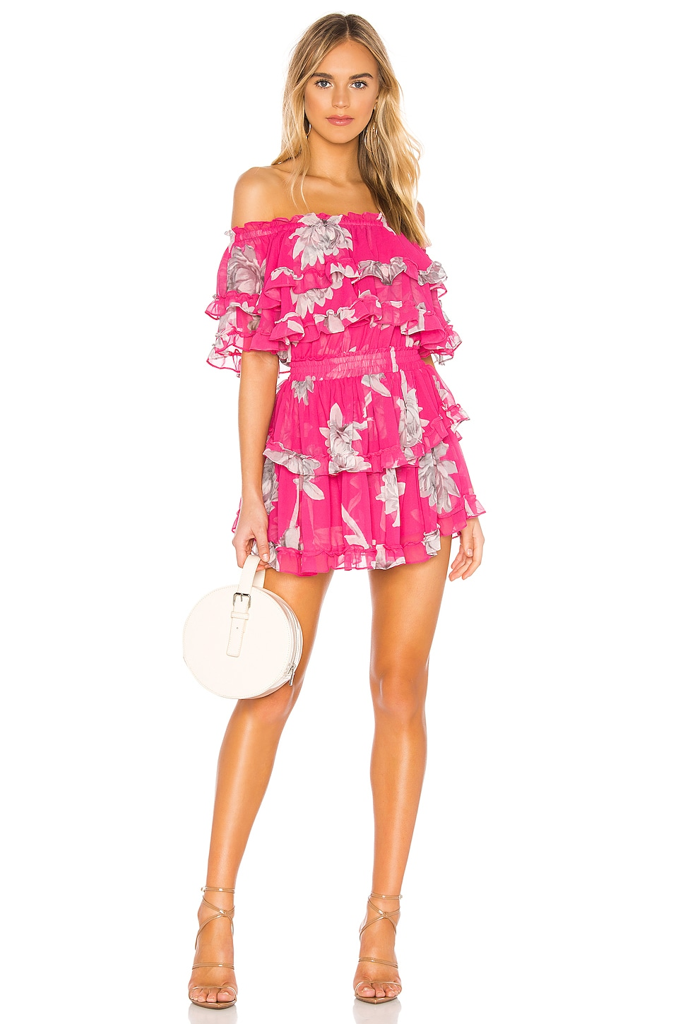 MISA Los Angeles X REVOLVE Isella Dress in Fuchsia Floral
