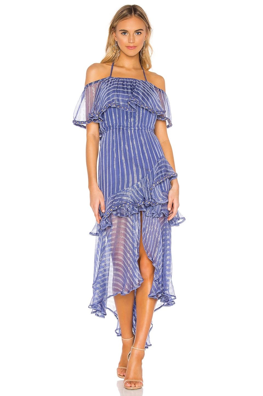 MISA Los Angeles Ambrosia Dress in Blue Crepe