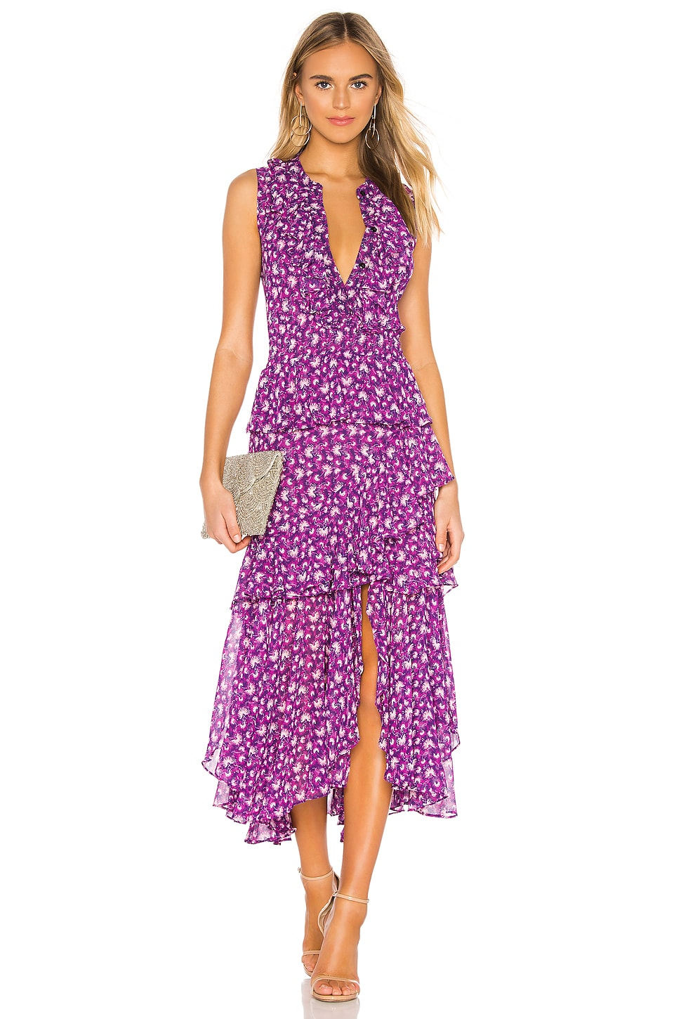 MISA Los Angeles Ilona Dress in Purple Floral