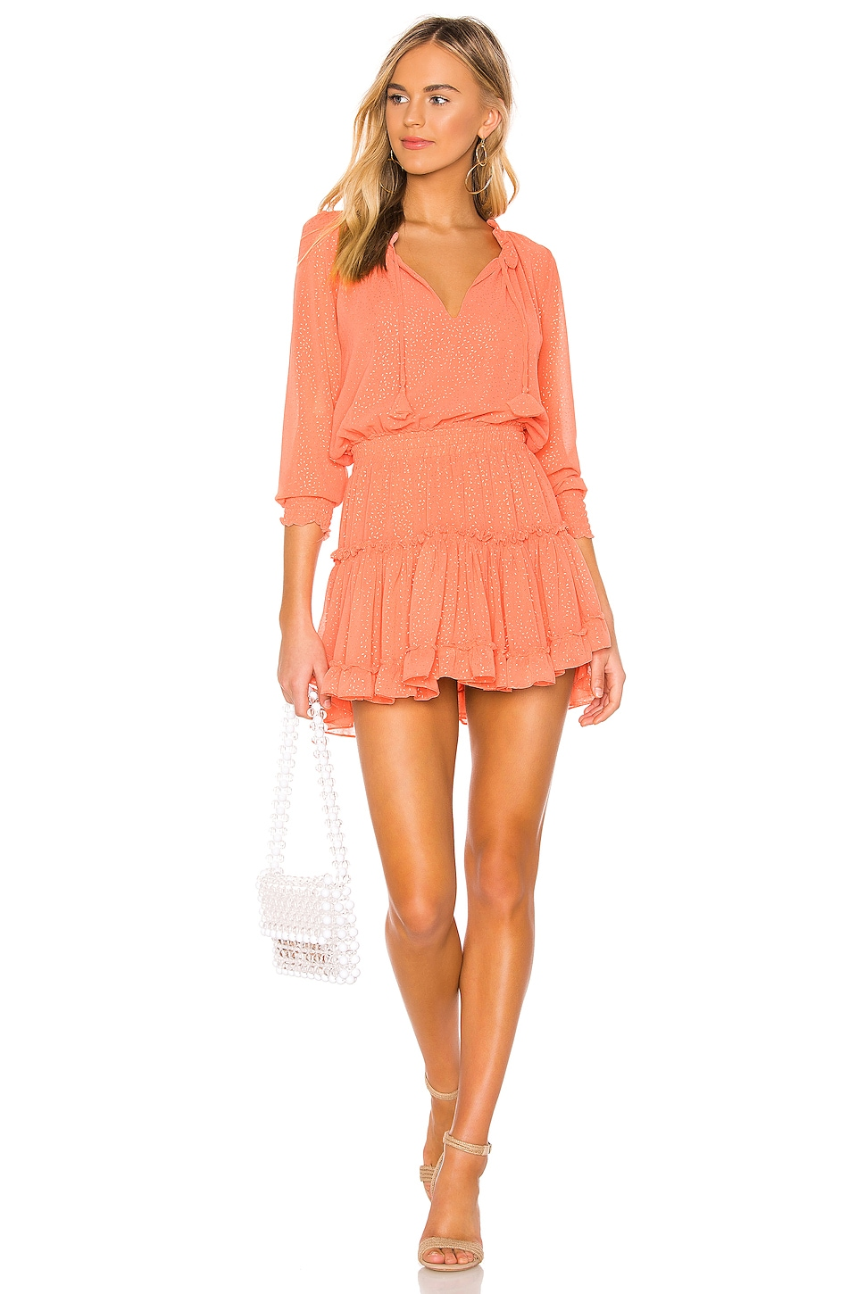MISA Los Angeles Melodie Dress in Coral