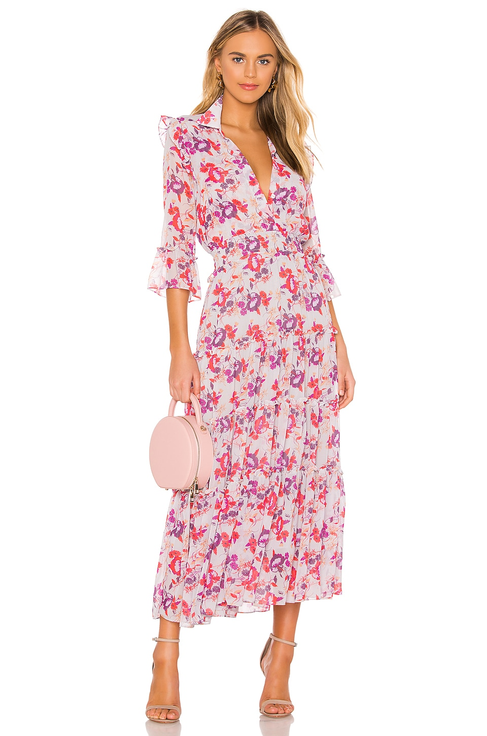 MISA Los Angeles Pamelina Dress in Lilac Floral
