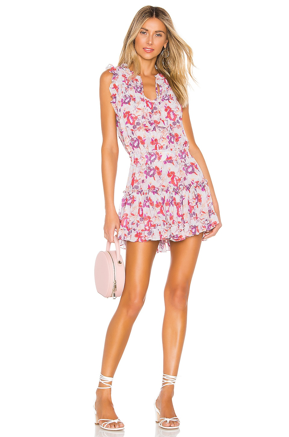 MISA Los Angeles X REVOLVE Aila Dress in Lilac Floral