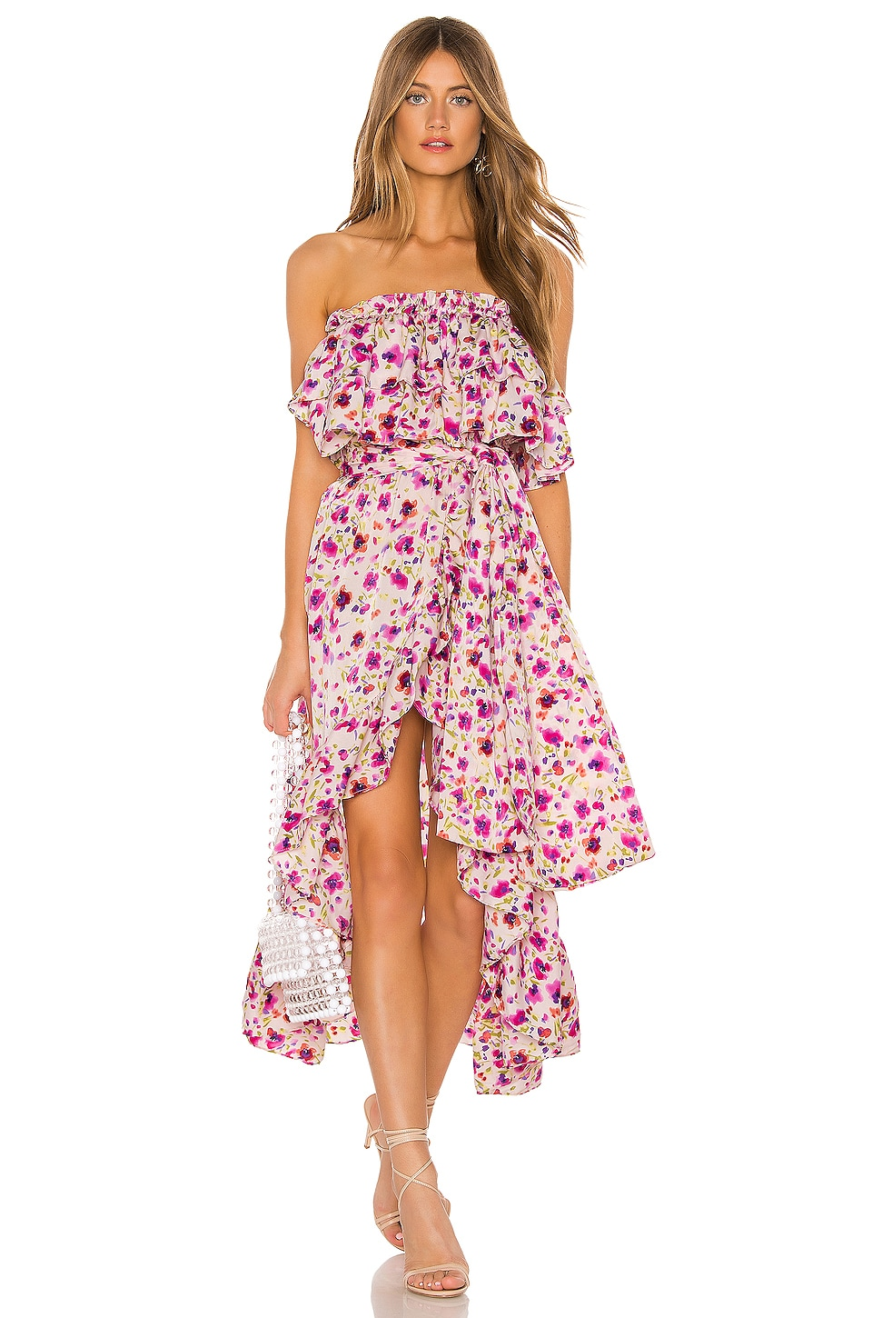 MISA Los Angeles Sabella Dress in Fuchsia Floral