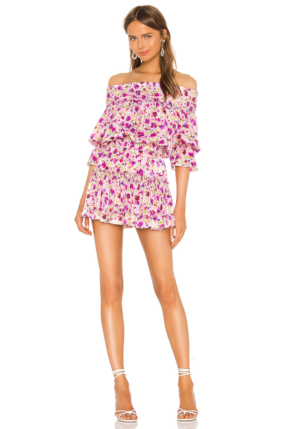 MISA Los Angeles X REVOLVE Darla Dress in Fuchsia Floral