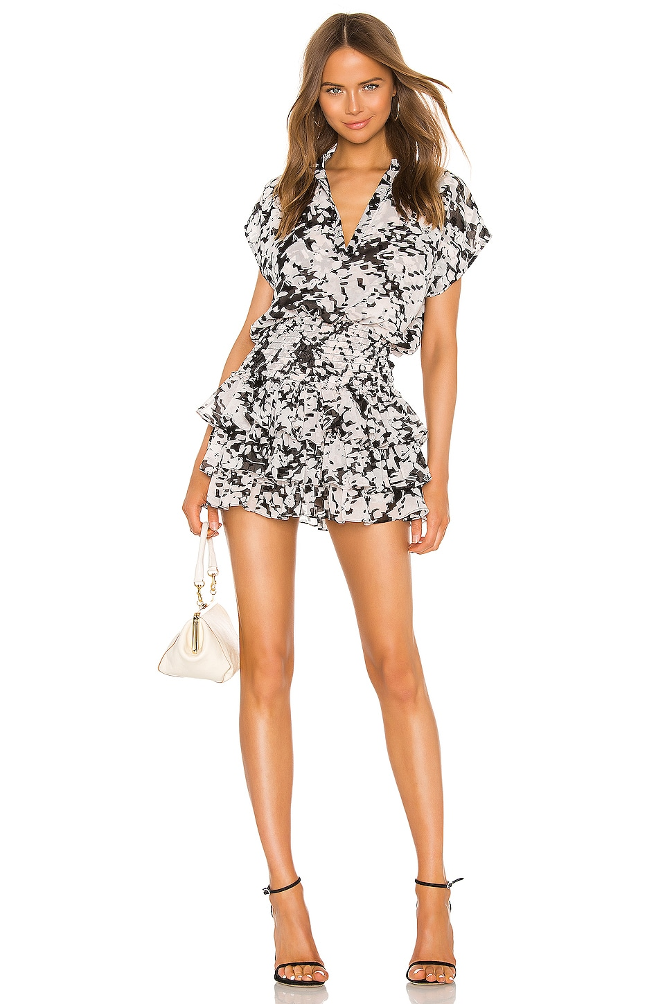 MISA Los Angeles Eloisa Dress in Black White Floral