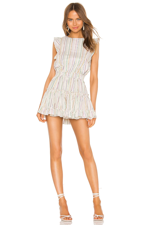MISA Los Angeles X REVOLVE Cielle Dress in Ivory Multi Lurex