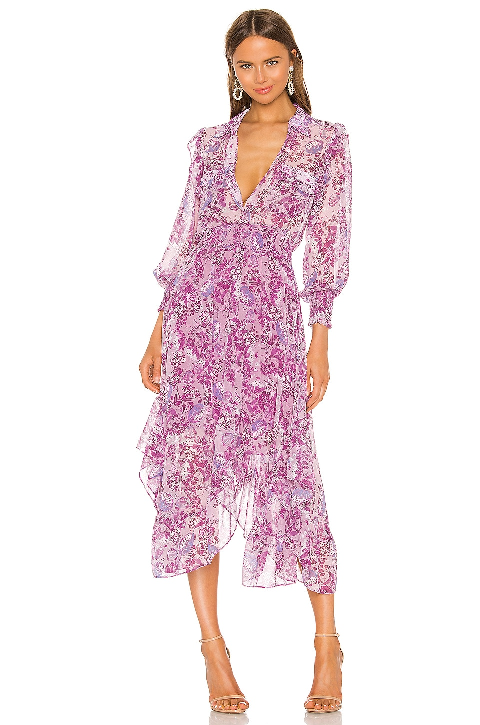 MISA Los Angeles Kaiya Dress in Lilac Floral