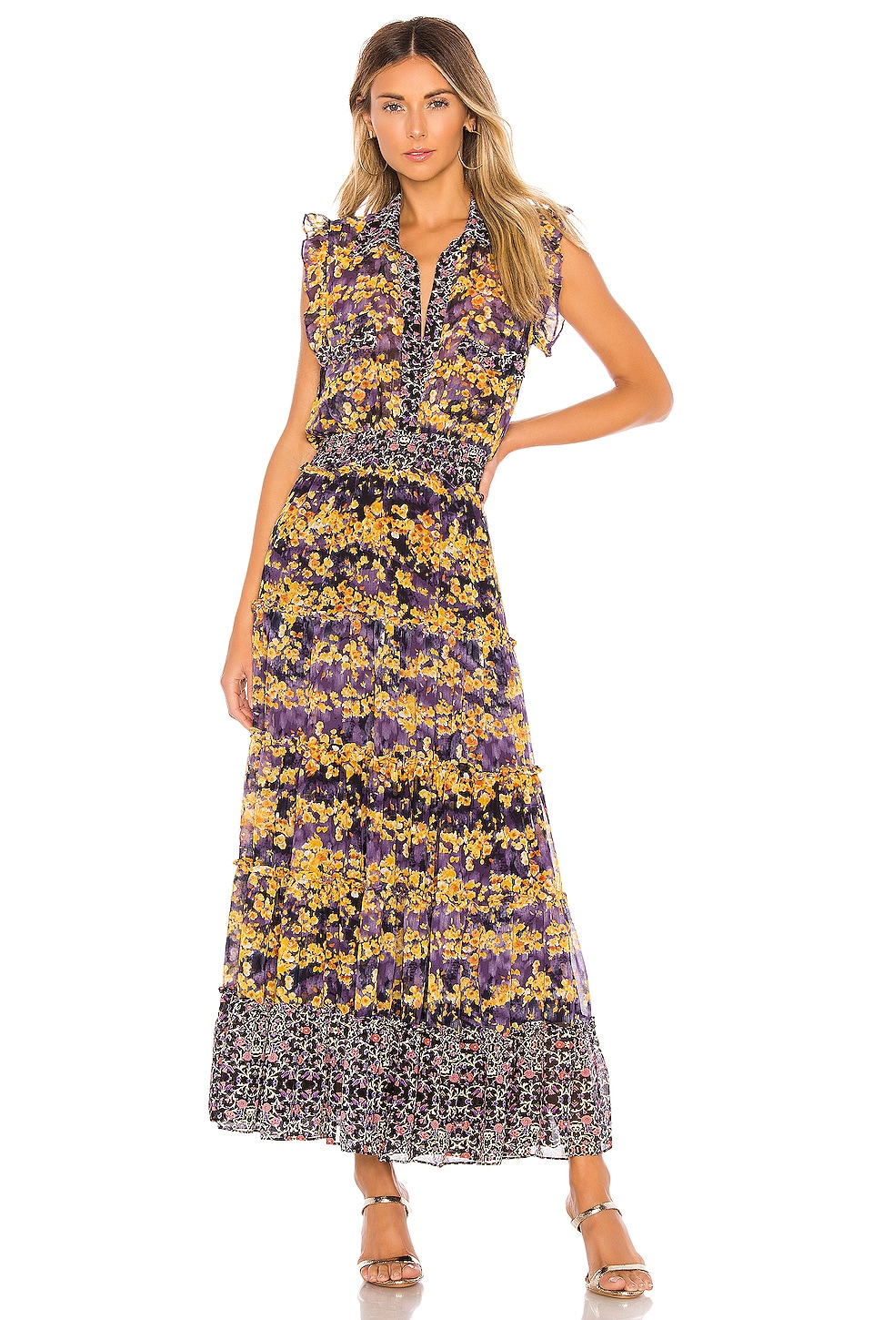 MISA Los Angeles X REVOLVE Trina Dress in Floral Combo