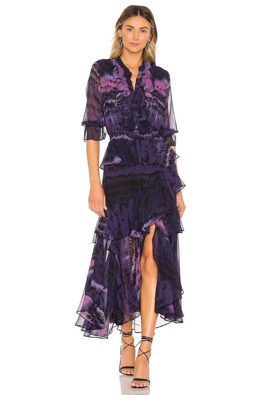 MISA Los Angeles Alanis Dress in Purple Tie Dye