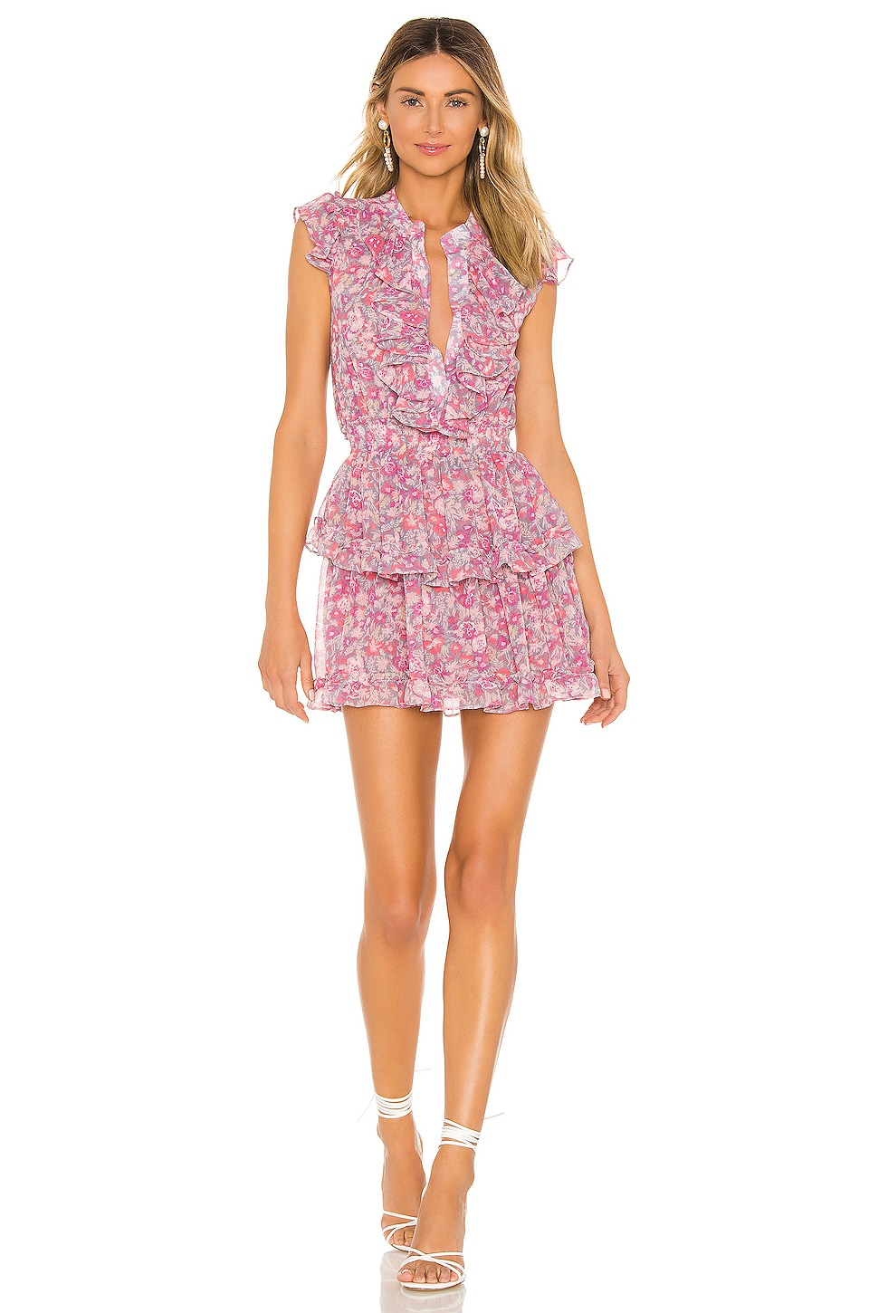 MISA Los Angeles Marnie Dress in Lilac Floral