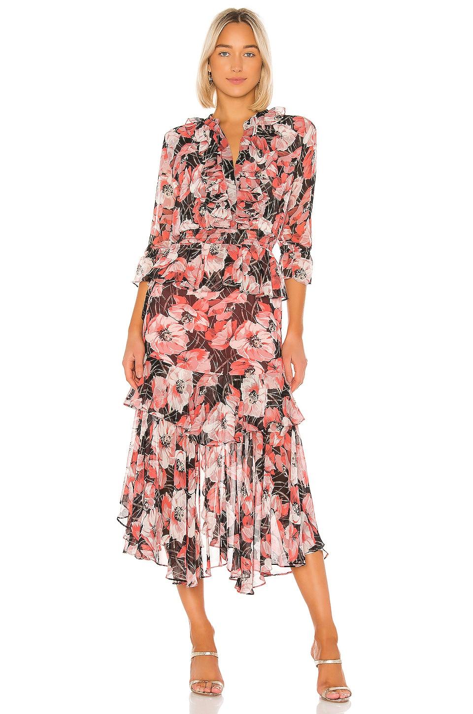 MISA Los Angeles Alanis Dress in Coral Floral
