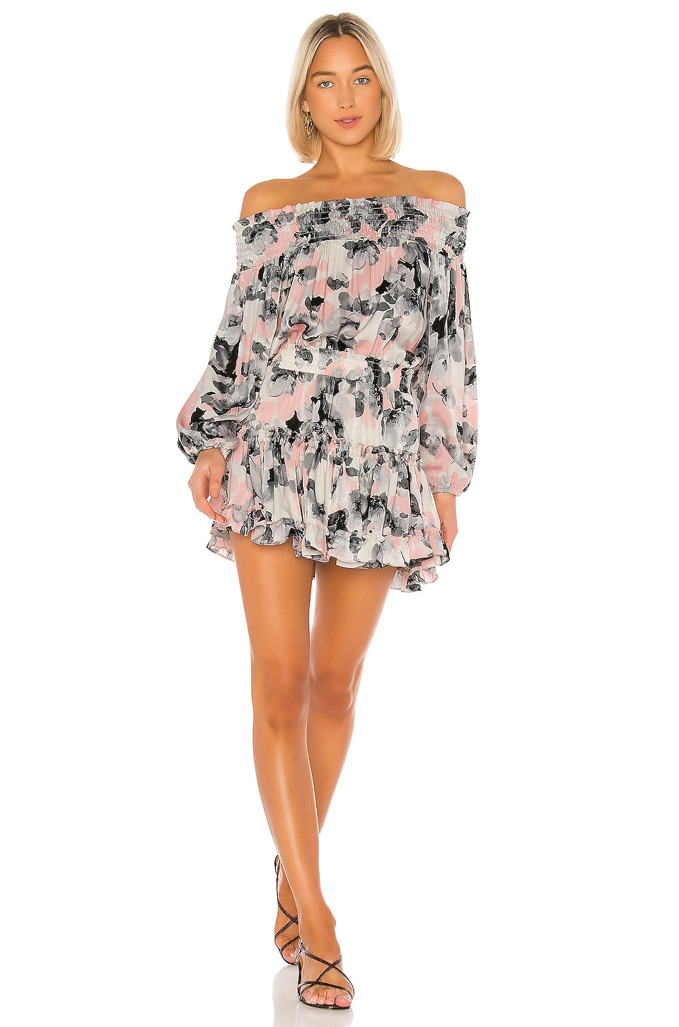 MISA Los Angeles Freesia Dress in Water Color Floral