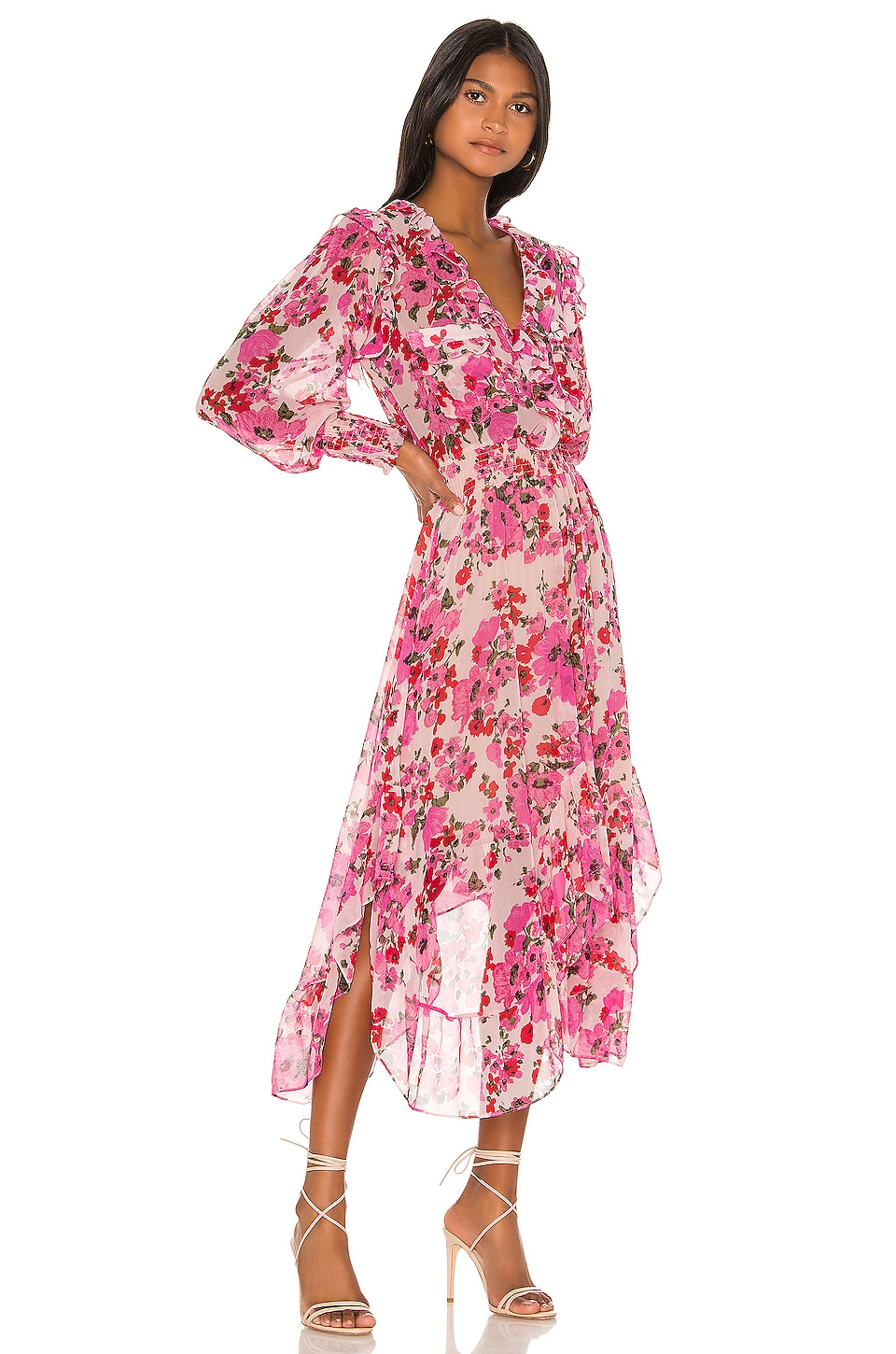 MISA Los Angeles Samantha Dress in Pink Floral
