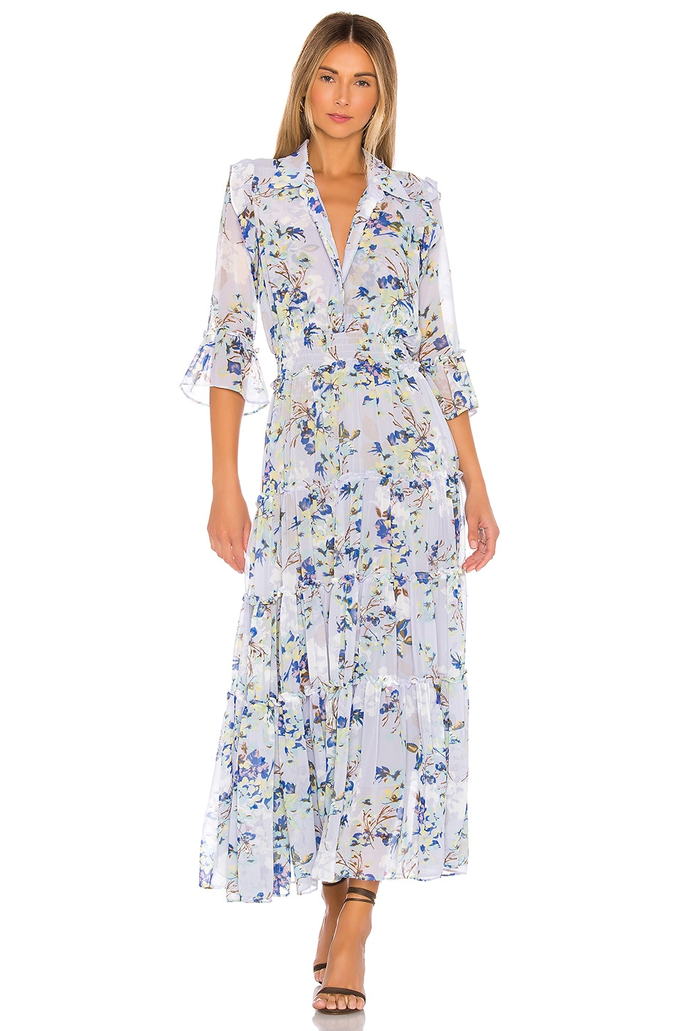 MISA Los Angeles Pamelina Dress in Periwinkle Floral