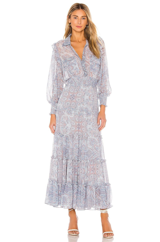 MISA Los Angeles Aydeniz Dress in Washed Tile