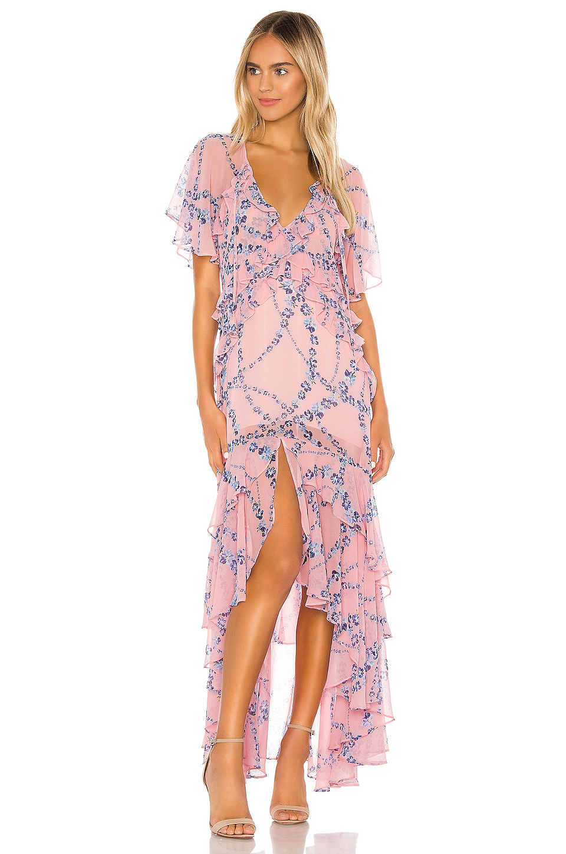 MISA Los Angeles Katarina Dress in Intertwined Pink Floral