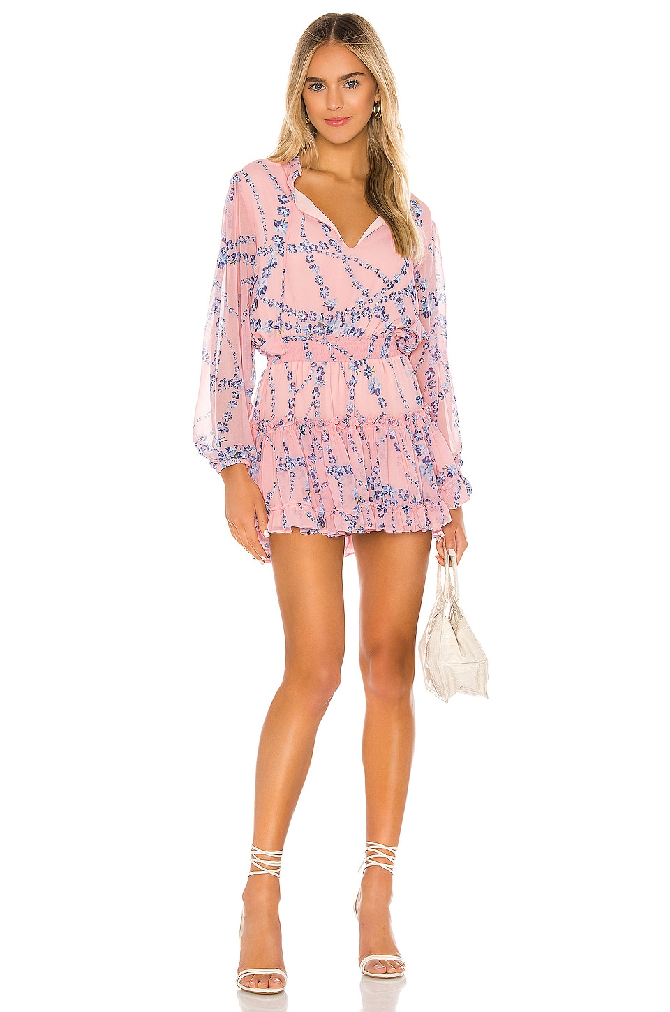 MISA Los Angeles Lorena Dress in Intertwined Pink Floral
