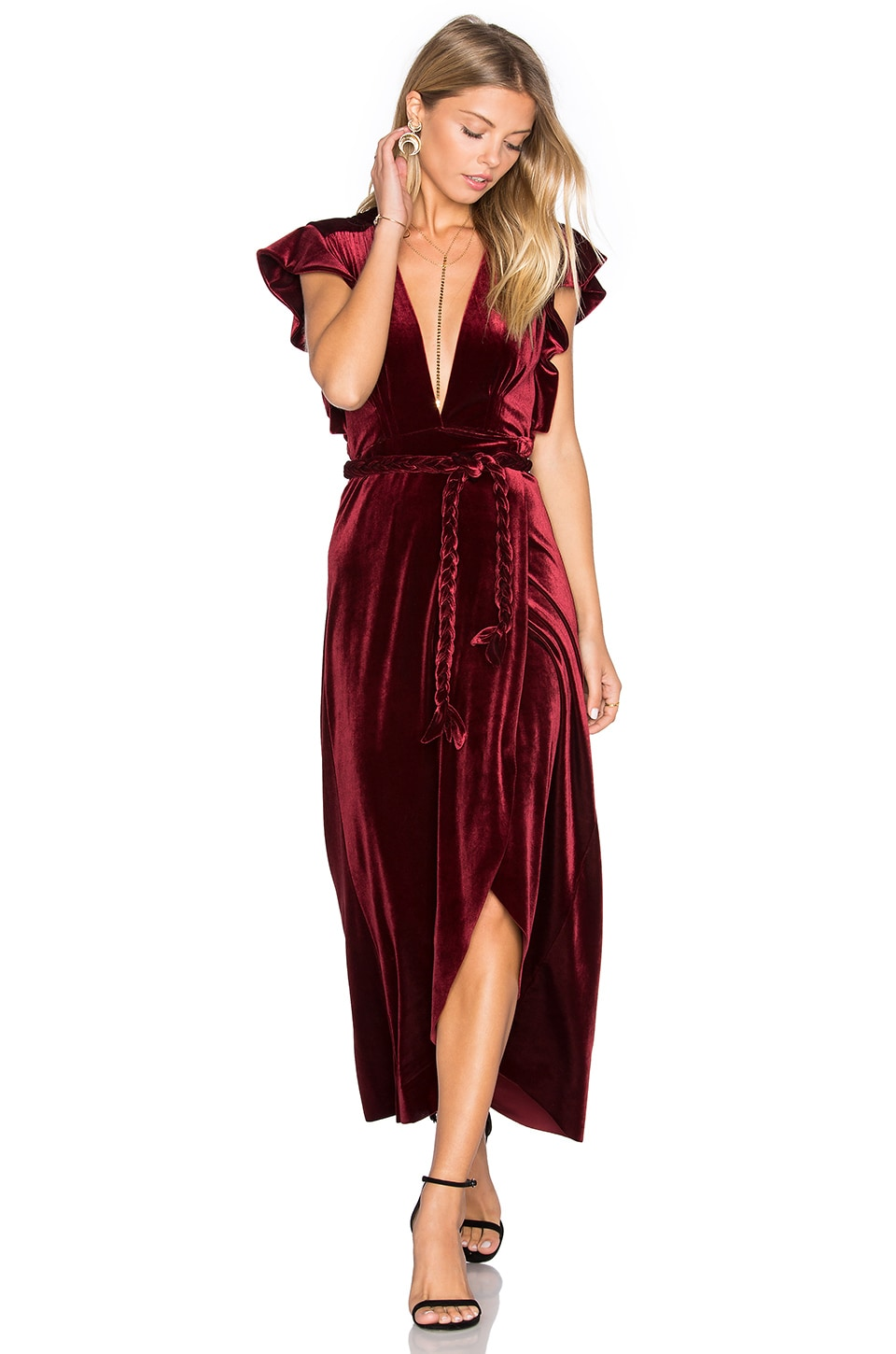 MISA Los Angeles Carolina Dress in Wine