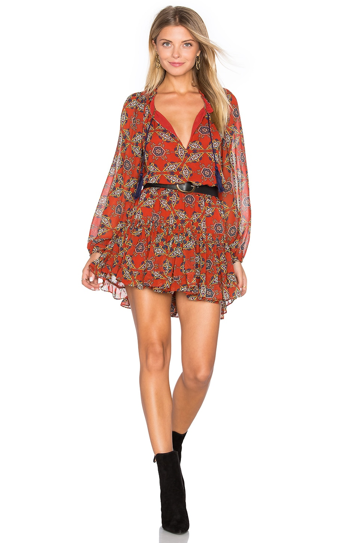 MISA Los Angeles Lorena Dress in Cayenne Multi