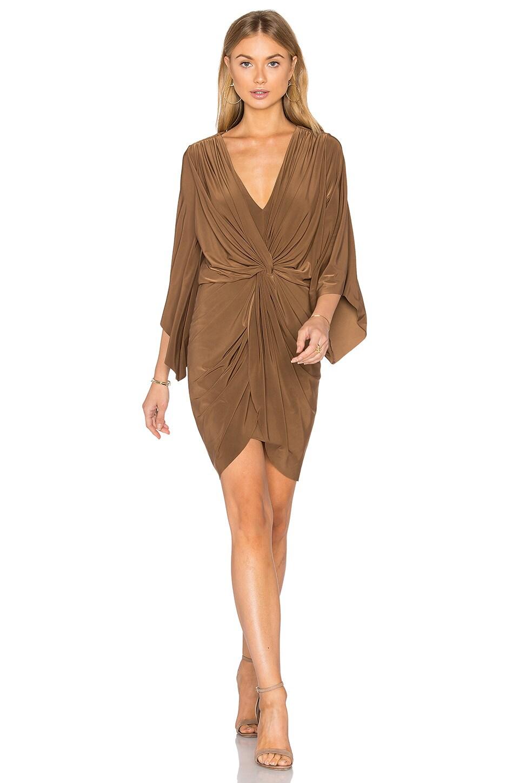 MISA Los Angeles Teget Dress in Camel