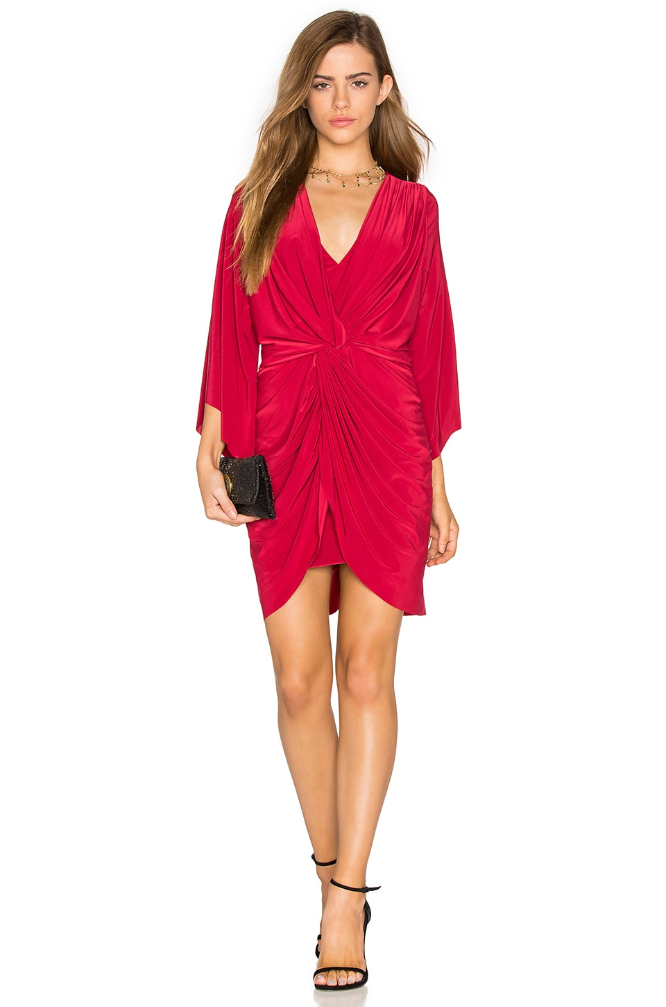 MISA Los Angeles Teget Dress in Red