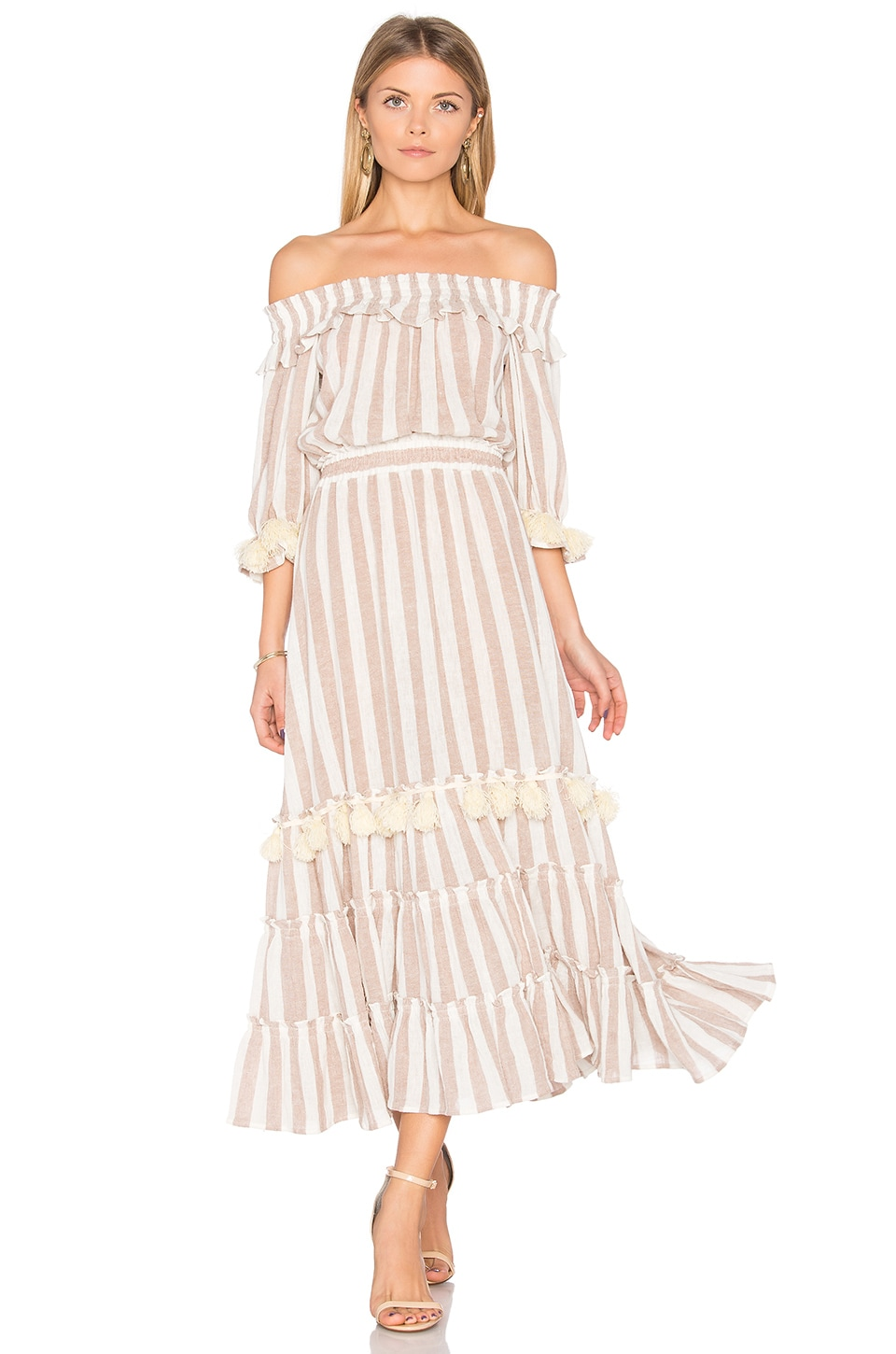 MISA Los Angeles Ava Dress in Blush Stripe