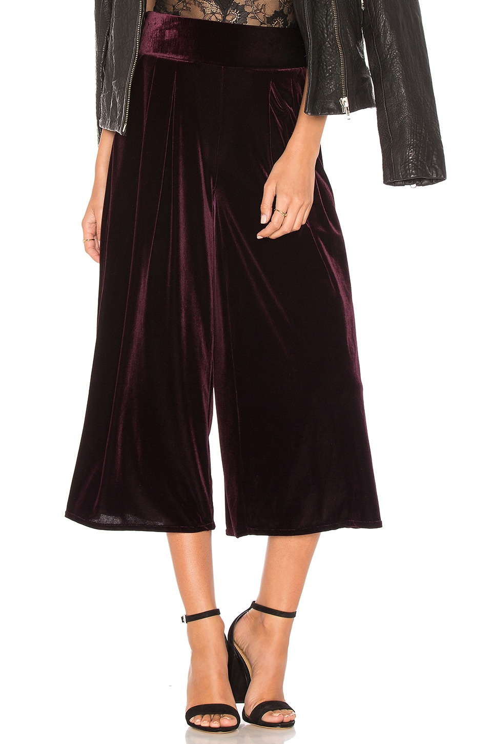 MISA Los Angeles Ilian Pant in Plum Velvet