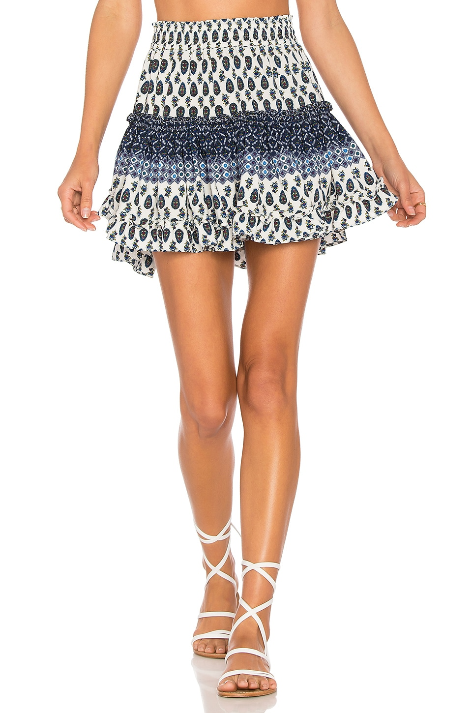 MISA Los Angeles Marion Skirt in Geo Multi