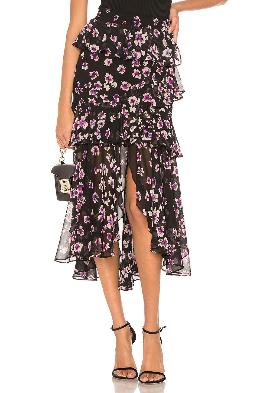 MISA Los Angeles X REVOLVE Joseva Skirt in Black Floral