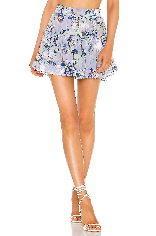 MISA Los Angeles X REVOVLE Marion Skirt in Periwinkle Floral