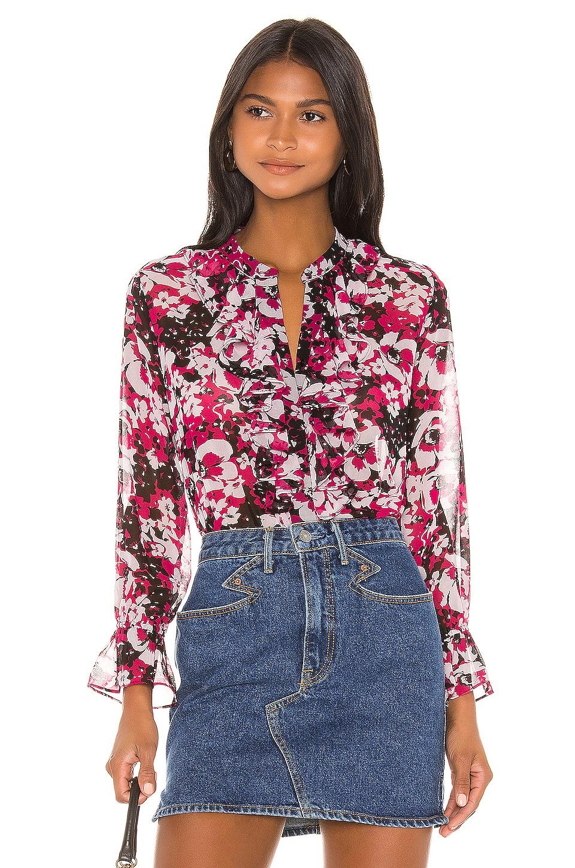 MISA Los Angeles X REVOLVE Lillie Top en Magenta Floral