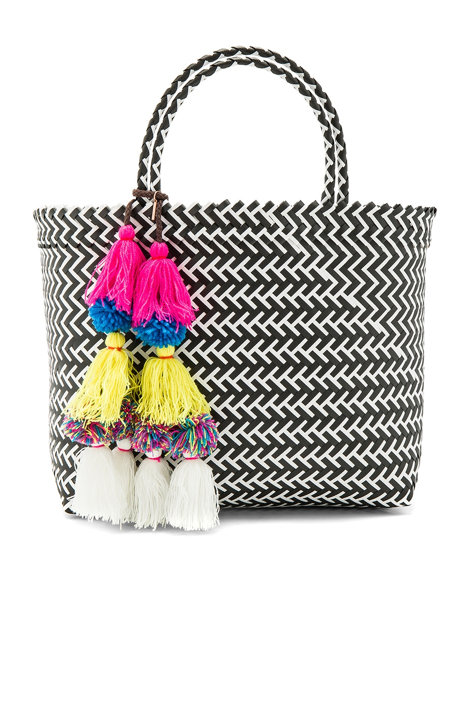 MISA Los Angeles Mercado Tote in Black Multi