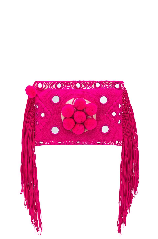 MISA Los Angeles Paraga Clutch in Pink
