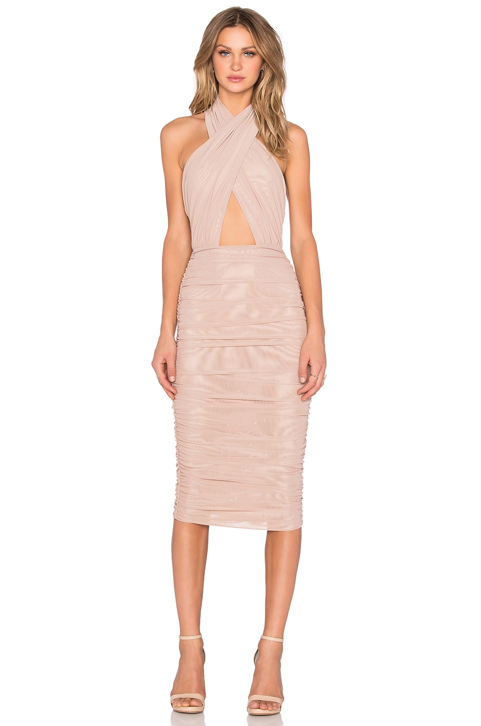 Misha Collection Keziah Dress in Nude