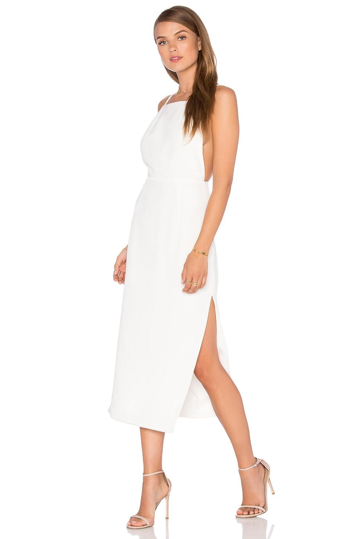 6532f27ee6b Misha Collection Alessandra Silk Dress in Milk Ivory