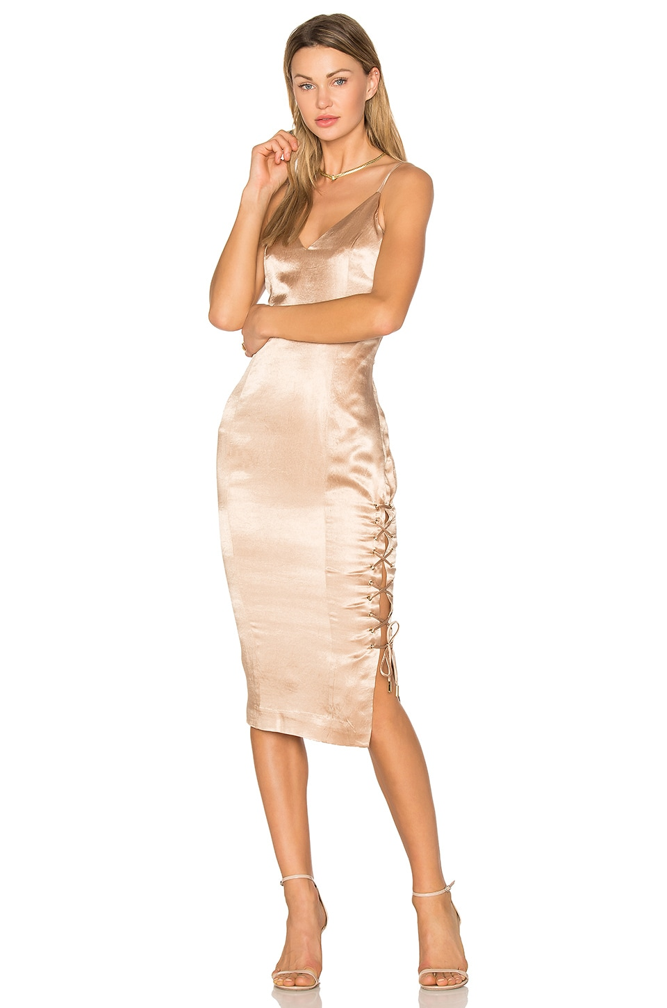 Misha Collection Tarin Slip Dress in Gold