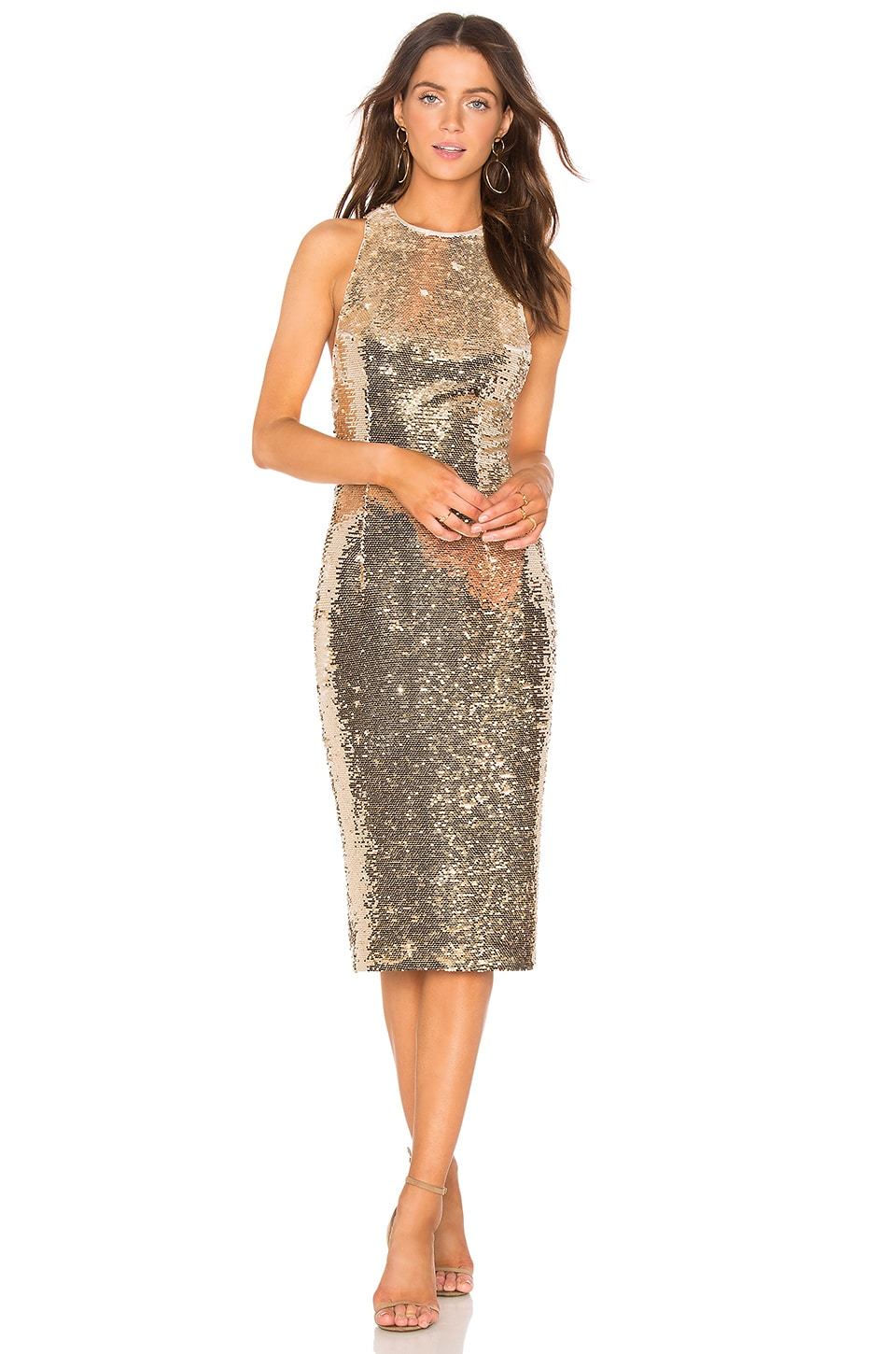 Misha Collection Amya Dress in Light Gold