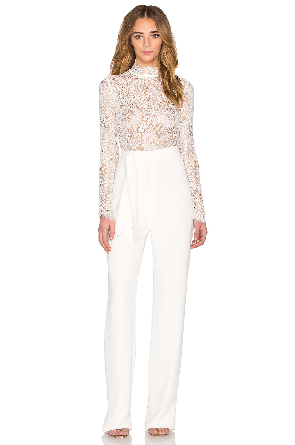 Misha Collection Allegra Lace Pantsuit in Milk