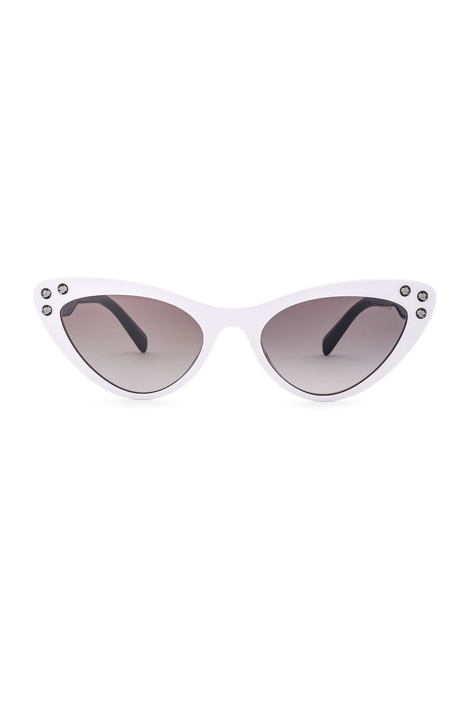 Miu Miu Logomania in White & Gradient Grey Mirror
