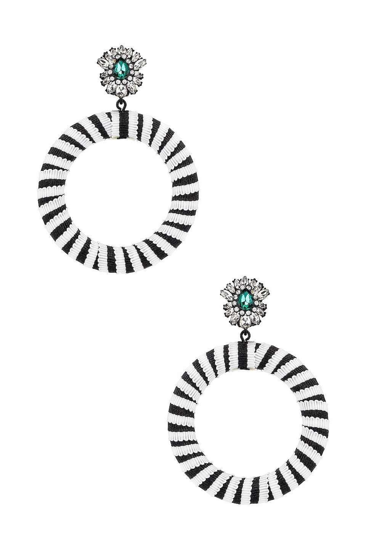 Maryjane Claverol Lolita Hoops in Black & White