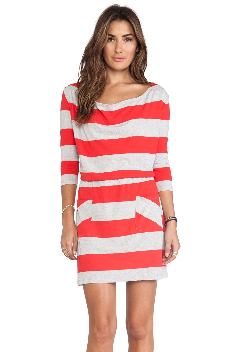 Market Wide Stripe Cassandra Dress in Red