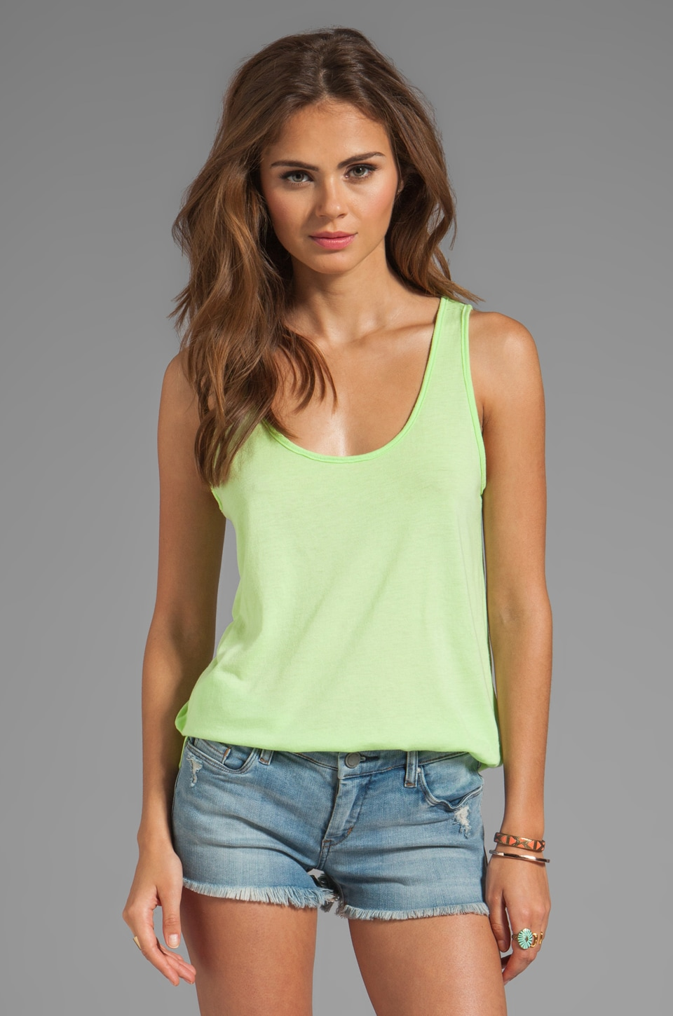Market Superfine Jersey Donna Tank in Chartreuse
