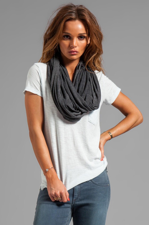 Market Ottoman Stripe Jersey Lauren Scarf in Black