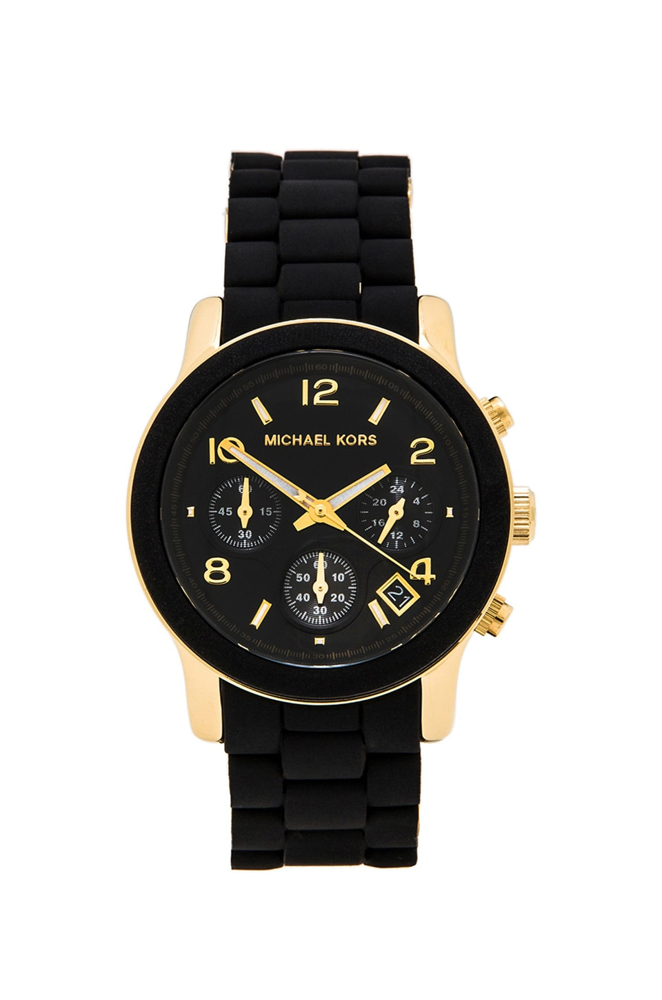 Michael Kors Runway Watch & Gold in Black