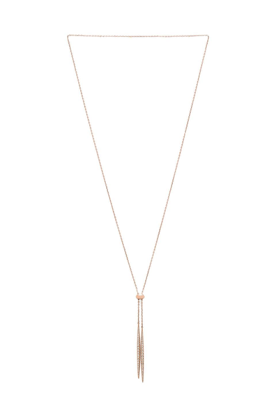 Michael Kors Matchstick Lariat in Rose Gold