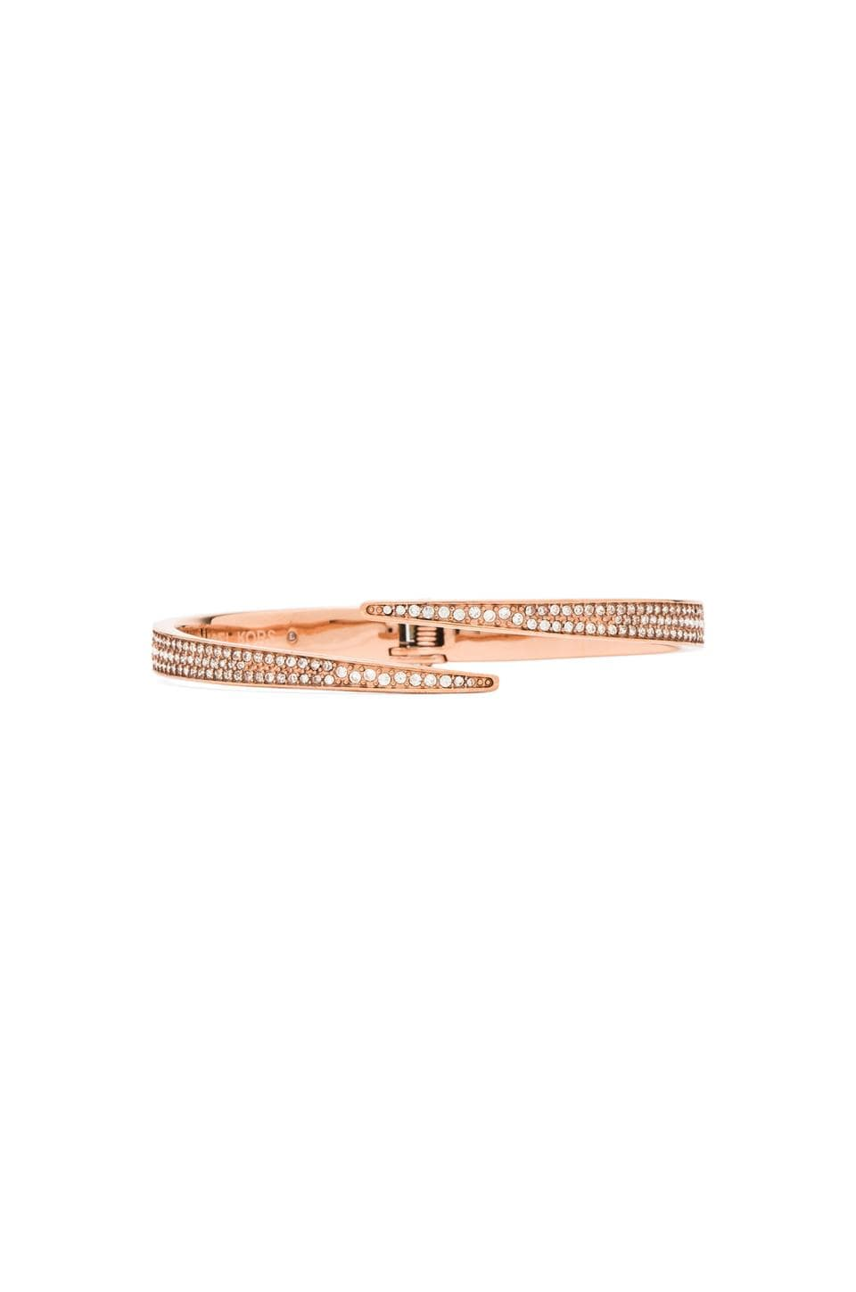 Michael Kors Matchstick Open Cuff in Rose Gold