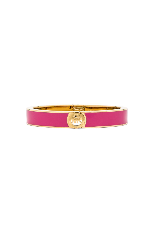 Michael Kors Hinge Bracelet in Gold & Pink